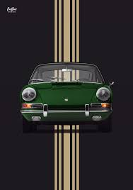porsche irish green porsche 911 early 911 irish green poster vertical car bone pl