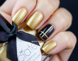 nails with gold ombre gradient glitter tips essie summit