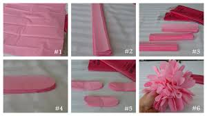 inspired living tissue paper flower tutorial