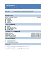 Resume For Grocery Store Free Resume Templates For High Students Babysitting Fast