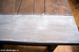 white stain on wood table white wash pickling