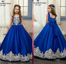 party frocks royal blue flower girl dresses 2017 baby party frocks designs