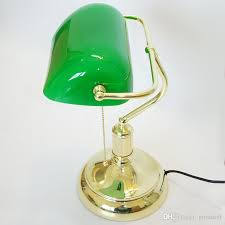 Colored Glass Table Lamps Online Cheap Vintage Bank Table Lamps Retro Brass Bankers Lamp