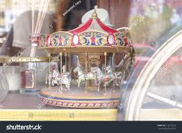 carousel merrygoround collectible closed up vintage stock photo