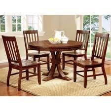 furniture of america cerille 5 piece round formal dining set
