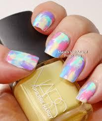 marias nail art and polish blog pastel brush stroke nail art
