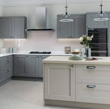 light grey kitchen kensington kitchen in light grey and dust grey kitchens direct ni