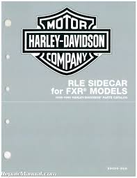 1995 1996 harley davidson rle sidecar for fxr motorcycle parts manual