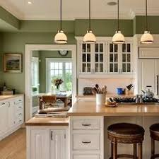 kitchen with stratton blue from benjamin moore theturquoisehome