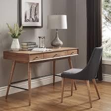 overstock l shaped desk aksel brown wood 3 drawer writing desk inspire q modern free