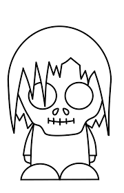 cute halloween drawings basic zombie drawing zombie printable coloring pages free download