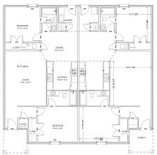 Duplex Floor Plan by Jamac Ventures Llc Residential And Commercial Construction For