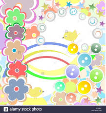 bird and flower background happy birthday or merry stock