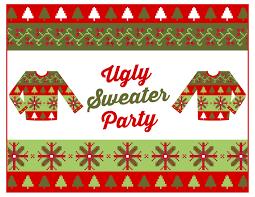 sweater invitation template free free sweater