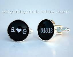 personalized wedding cufflinks yaya diy club personalized wedding cufflinks unique groom gift