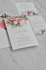 Wedding Invitations Brisbane Spring Pink Flower Foiled Pistil Wedding Invitations Ewfi007