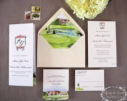 Wedding Invitations Atlanta Hand Painted Watercolor Wedding Stationery By Tyingtheknots