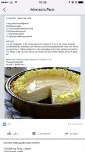 Crustless Pumpkin Pie Recipe South Africa by Pynappel Cremora Tert South African Recipies Pinterest