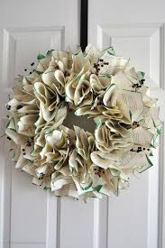 Holiday Wreath Ideas Pictures Christmas Book Page Wreath Sparkles Of Sunshine