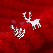 selling small deer tree stud earrings