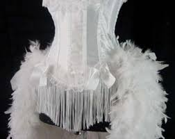 pink lady burlesque costume moulin can can showgirl feathers