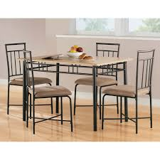 dorel living mainstays 5 piece wood metal dining set natural