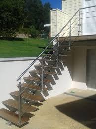 escalier garde corps verre impressionnant plan de travail exterieur 10 ensemble escalier