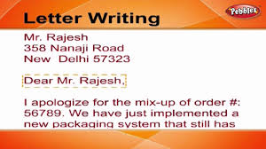 how to write a letter letter writing in english writing