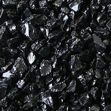 Black Garden Rocks Fireplace Glass Rocks Black 1 4 1 2 10 Lbs
