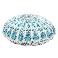 Ottoman Cushions 80 80cm Large Mandala Floor Pillows Bohemian Meditation