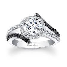 white diamonds rings images Barkev 39 s black diamond halo engagement ring 7857lbk barkev 39 s jpg
