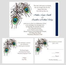 peacock invitations peacock wedding invitations ebay