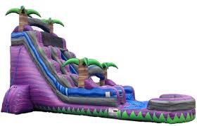 paradise water slide 24 feet tall w giant pool water slides