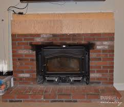 How To Lay Brick Fireplace by How To Cover Your Brick Fireplace Modern Farmhouse Style