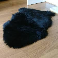 Rugs Black Ideas Animal Fur Rugs Fake Bear Skin Rug Grey Faux Sheepskin Rug