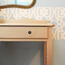a bold gold desk