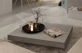 Coffee Tables With Wheels Furniture Maison Vega Concrete Coffee Table On Wheels