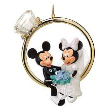 your wdw store disney figurine ornament mickey and minnie