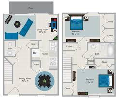 floor plans for 2 bedroom townhouse