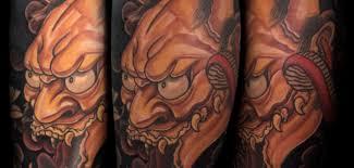 hannya mask tattoo skin design tattoo