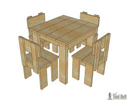 how to build an easy table simple kid s table and chair set her tool belt