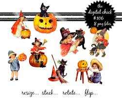 vintage black cat halloween clipart 65