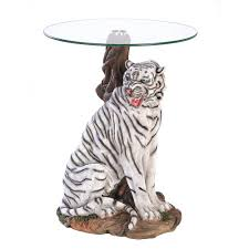 Accent Table Decor White Tiger Accent Table Wholesale At Koehler Home Decor