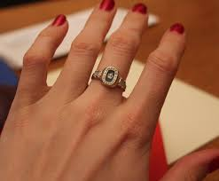 ring engaged no i m not engaged it s just my class ring they told me to
