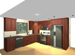 small kitchen design with white cabinetry and island black stools
