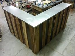 Reception Desk For Sale Used Modern Black Varnished Acacia Wood Desk With Bar Table Top Surface