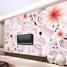 wallpaper bunga lingkaran 3d wallpaper modern simple pink bunga lingkaran stereo mural ruang