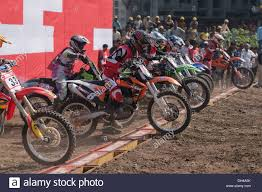 motocross bike race motocross bike race starting pune maharashtra india asia dec 2011