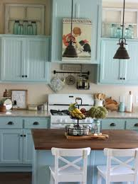 my blue kitchen cabinets u2039 a cottage