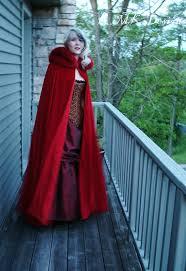 Fairytale Halloween Favorites Velvet Cape Red Riding Hood Fairytale Costume